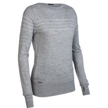 Icebreaker Athena Sweater - Merino Wool, Boat Neck (For Women) in Metro - Closeouts