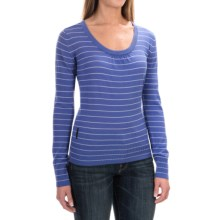 Icebreaker Athena Sweater - Merino Wool, Scoop Neck (For Women) in Abyss/Bone Heather - Closeouts