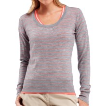 Icebreaker Athena Sweater - Merino Wool, Scoop Neck (For Women) in Metro Heather/Ambrosia - Closeouts