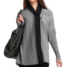 Icebreaker Athena Wrap Sweater - Merino Wool (For Women) in Metro/Black - Closeouts