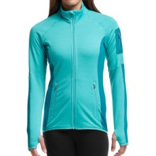 Icebreaker Atom Jacket - Merino Wool, Full Zip (For Women) in Aquamarine/Alpine/Aquamarine - Closeouts