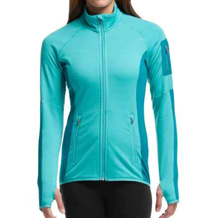 Icebreaker Atom Jacket - Merino Wool, Full Zip (For Women) in Aquamarine/Alpine/Aquamarine - Closeouts