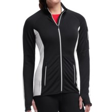 Icebreaker Atom Jacket - Merino Wool, Full Zip (For Women) in Black/Black/Snow - Closeouts