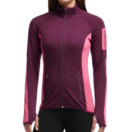 Icebreaker Atom Jacket - Merino Wool, Full Zip (For Women) in Maroon/Shocking/Maroon - Closeouts