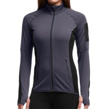 Icebreaker Atom Jacket - Merino Wool, Full Zip (For Women) in Panther/Black/Panther - Closeouts