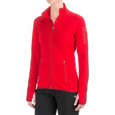 Icebreaker Atom Jacket - Merino Wool, Full Zip (For Women) in Rocket/Oxblood/Rocket - Closeouts
