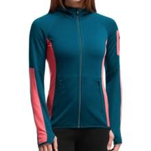 Icebreaker Atom Jacket - Merino Wool, Full Zip, Hooded (For Women) in Night/Grapefruit/Night - Closeouts