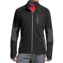 Icebreaker Atom RealFleece Jacket - Merino Wool (For Men) in Black/Monsoon/Monsoon - Closeouts
