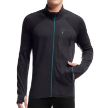 Icebreaker Atom RealFleece Jacket - Merino Wool (For Men) in Carbon/Carbon/Alpine - Closeouts