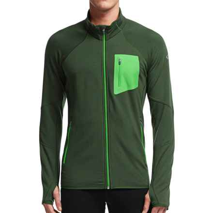 Icebreaker Atom RealFleece Jacket - Merino Wool (For Men) in Conifer/Conifer/Balsam - Closeouts