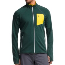 Icebreaker Atom RealFleece Jacket - Merino Wool (For Men) in Pine/Pine/Chartreuse - Closeouts