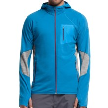 Icebreaker Atom RealFleece Jacket - Merino Wool, Hooded (For Men) in Aegean/Metro Heather/Aegean - Closeouts