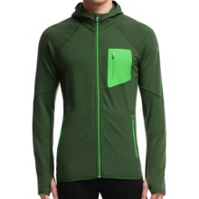 Icebreaker Atom RealFleece Jacket - Merino Wool, Hooded (For Men) in Conifer/Conifer/Balsam - Closeouts
