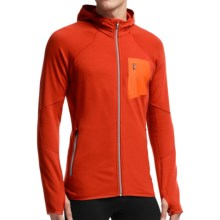 Icebreaker Atom RealFleece Jacket - Merino Wool, Hooded (For Men) in Molten/Molten/Fossil - Closeouts