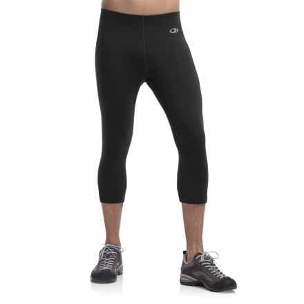 Icebreaker Atom RealFleece Legless Bottoms - Merino Wool (For Men) in Black - Closeouts