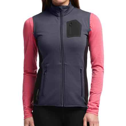 Icebreaker Atom Vest - Merino Wool (For Women) in Panther/Black/Panther - Closeouts