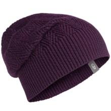 Icebreaker Aura Beanie Hat - UPF 20+, Merino Wool (For Men and Women) in Vino - Closeouts