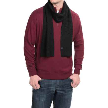 Icebreaker Aura Merino Wool Scarf in Black - Closeouts