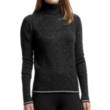 Icebreaker Aura Turtleneck Sweater - Merino Wool (For Women) in Black/Jet Heather - Closeouts