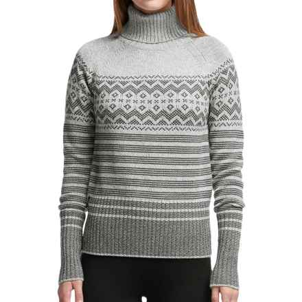 Icebreaker Aura Turtleneck Sweater - Merino Wool (For Women) in Metro Heather/Bone Heather/Jet Heather - Closeouts