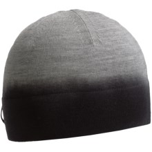 Icebreaker Aurora Beanie Hat - Merino Wool (For Men and Women) in Metor/Black - Closeouts