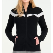 Icebreaker Aurora Zip Sweater - Merino Wool, Long Sleeve (For Women) in Black - Closeouts