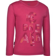 Icebreaker Bella T-Shirt - UPF 39+, Merino Wool, Long Sleeve (For Girls) in Hibiscus - Closeouts
