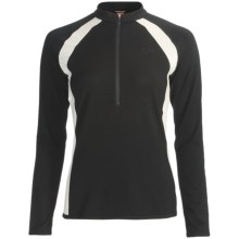 Icebreaker Bike Grace Cycling Jersey - Merino Wool, Long Sleeve (For Women) in Black/Snow - Closeouts