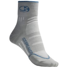 Icebreaker Bike Lite Mini Socks - Merino Wool, Quarter-Crew (For Women) in Silver/Neptune - 2nds