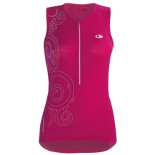 Icebreaker Bike Rhythm Cycling Jersey - Merino Wool, Zip Neck, Sleeveless (For Women) in Cerise - Closeouts
