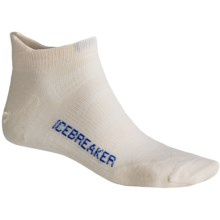 Icebreaker Bike Ultralite Micro Socks - Merino Wool, Below-the-Ankle (For Men) in White/Royal - 2nds