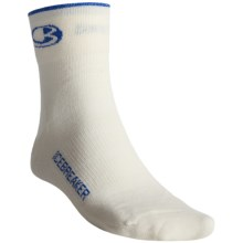 Icebreaker Bike Ultralite Mini Socks - Merino Wool, Quarter-Crew (For Men) in White/Royal - 2nds