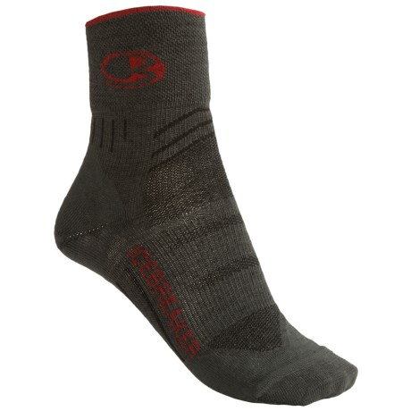 Icebreaker Bike Ultralite Mini Socks - Merino Wool, Quarter-Crew (For Women) in Oil/Salsa/Oil