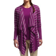 Icebreaker Bliss Stripe Wrap Cardigan - UPF 20+, Merino Wool  (For Women) in Vivid/Vivid - Closeouts