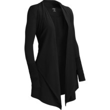 Icebreaker Bliss Wrap Cardigan Sweater - UPF 30+, Merino Wool (For Women) in Black - Closeouts