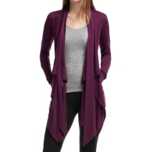 Icebreaker Bliss Wrap Cardigan - UPF 30+, Merino Wool, Long Sleeve (For Women) in Maroon/Maroon - Closeouts