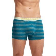 Icebreaker BodyFit 150 Anatomica Stripe Boxer Briefs - Merino Wool (For Men) in Alpine/Metro Heather/White - Closeouts
