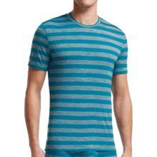 Icebreaker Bodyfit 150 Anatomica Stripe Shirt - UPF 30+, Merino Wool,  Short Sleeve (For Men) in Alpine/Metro Heather - Closeouts