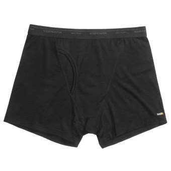 Icebreaker Bodyfit 150 Atlas Boxers with Fly - Merino Wool (For Men) in Black