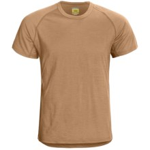 Icebreaker Bodyfit 150 Atlas T-Shirt - Merino Wool, Short Sleeve (For Men) in Tan - Closeouts