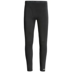 Icebreaker Bodyfit 150 Leggings with Fly - Merino Wool (For Men) in Black/Mineral