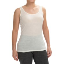 Icebreaker BodyFit 150 Siren Tank Top - UPF 30+, Merino Wool (For Women) in Snow - Closeouts
