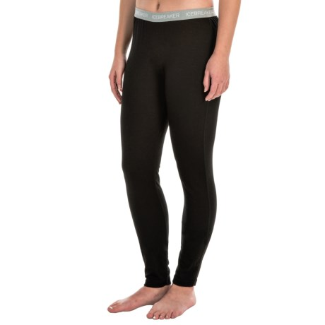 Icebreaker Bodyfit 150 Sprite Leggings - UPF 30+, Superfine Merino Wool, Base Layer (For Women) in Black