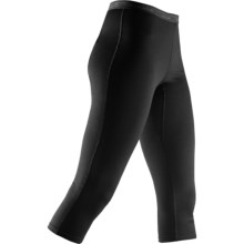 Icebreaker Bodyfit 200 3/4 Leggings - Merino Wool, Capris (For Women) in Black - Closeouts