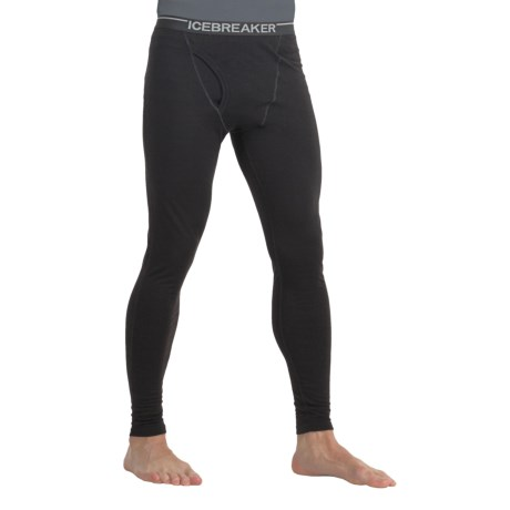 Icebreaker Bodyfit 200 Base Layer Bottoms - Merino Wool, Lightweight (For Men) in Black