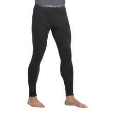 Icebreaker Bodyfit 200 Base Layer Bottoms - Merino Wool, Midweight (For Men) in Black - Closeouts