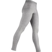 Icebreaker Bodyfit 200 Base Layer Leggings - UPF 50+, Merino Wool (For Women) in Blizzard - Closeouts
