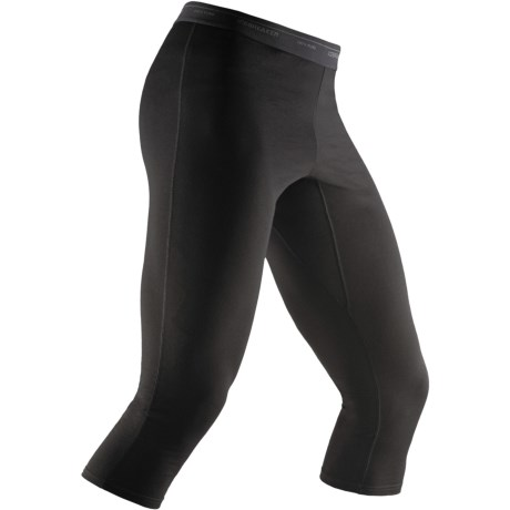 Icebreaker Bodyfit 200 Base Layer Tights - Merino Wool,  3/4-Length (For Men) in Black