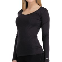 Icebreaker Bodyfit 200 Base Layer Top - UPF 50+, Merino Wool, Long Sleeve (For Women) in Cognac - Closeouts