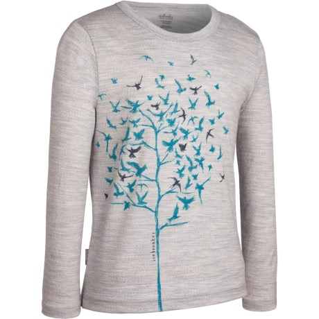 Icebreaker Bodyfit 200 Bella T-Shirt - Merino Wool, Long Sleeve (For Girls)